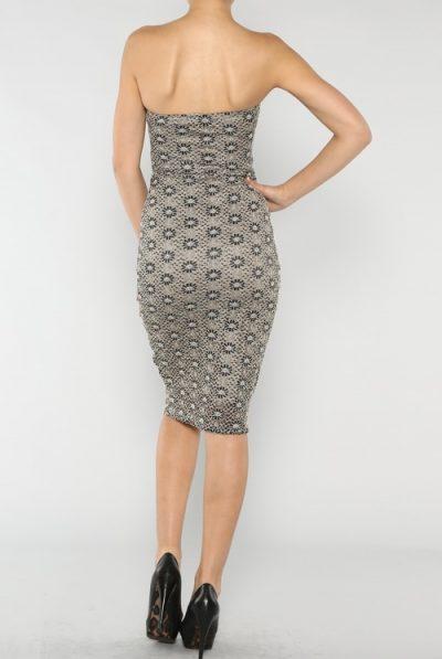 back tube dress