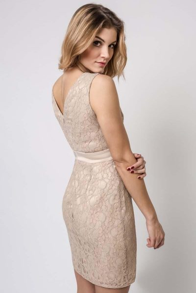 beige lace dress9