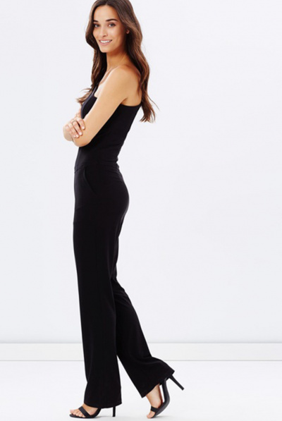 black one shoulder jumpsuit 67