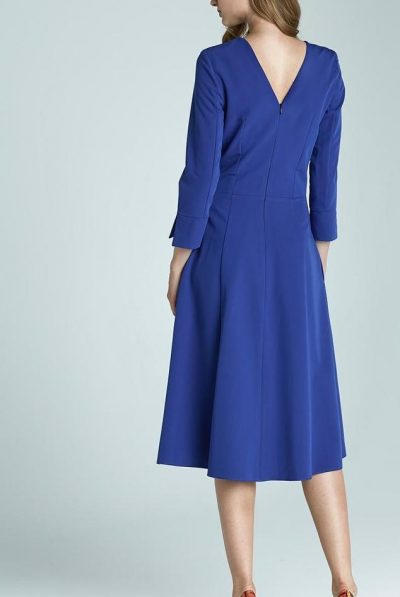 blue dress with pockets 5
