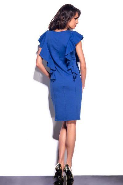 blue frill midi dress 7