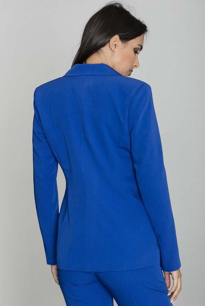 blue jacket back