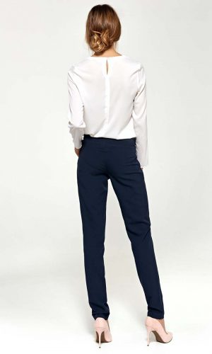 bow tir back trousers