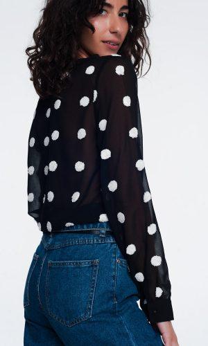 chiffon-polka-dot-shirt