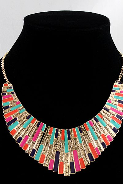 colourful bib necklace