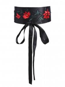 flower embroidery belt