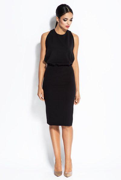 front of dress black 6789