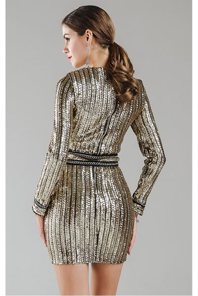 gold dress bellueci