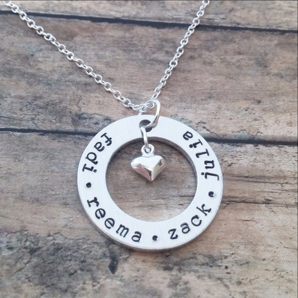 4f3988dec Personalised Necklace with Kids Names with heart