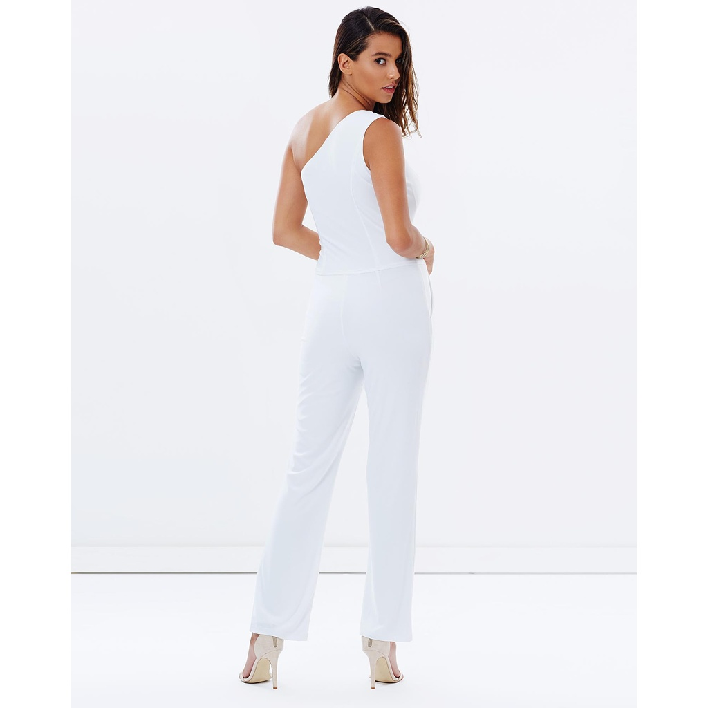 731e4ab2c2fa White One Shoulder Jumpsuit by Skiva