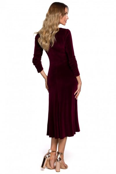 m557-velvet-midi-dress-with-gathered-sleeves-maroon (1)