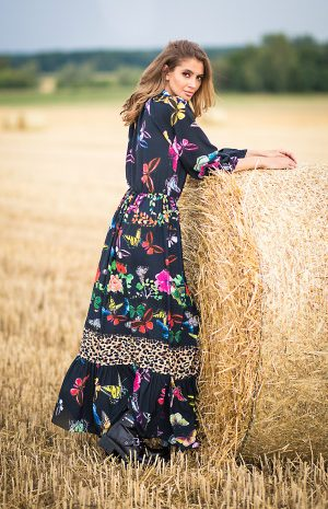maxi dress butterfly