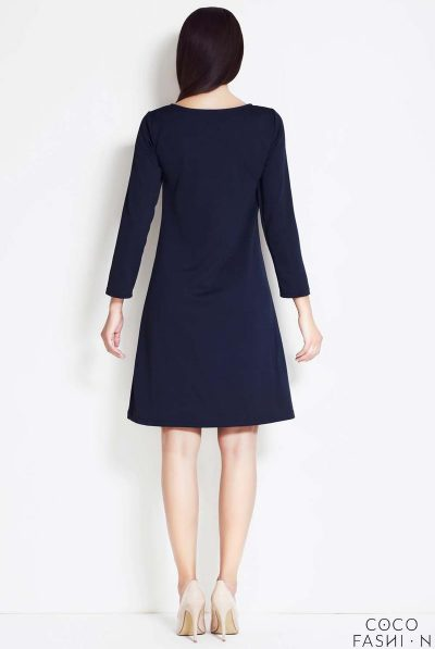 navy dress back