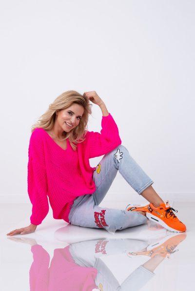 neon pink jump f