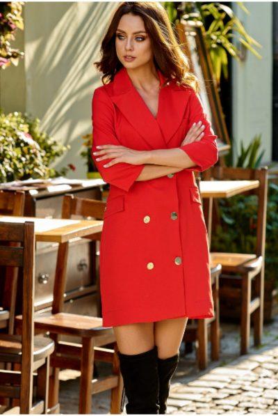 pjimage RED BLAZER DRESS