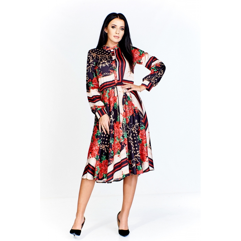 Naviblue 2019 Wedding Dresses Dolly Collection: Red & Black Print Chain Dress