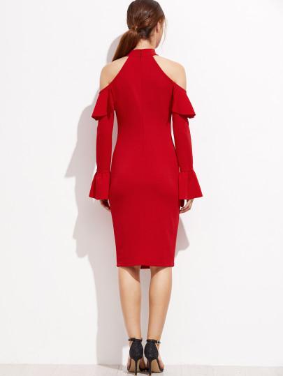 6ba059fb09e Rosen Red Ruffle Dress