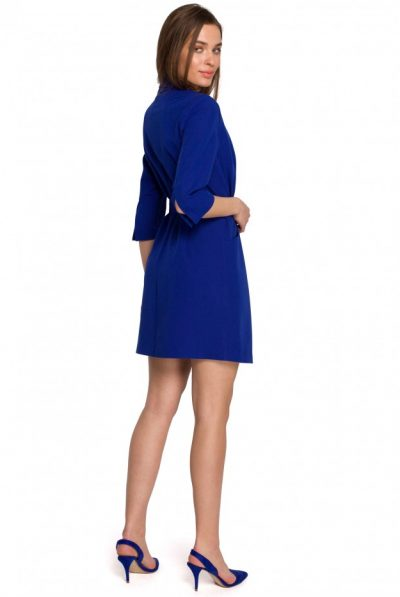 s254-blazer-dress-with-a-buckle-belt-royal-blue (1)
