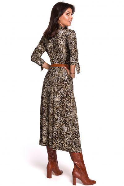 side of leopard dress