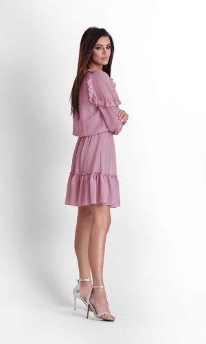 side purple dress 45