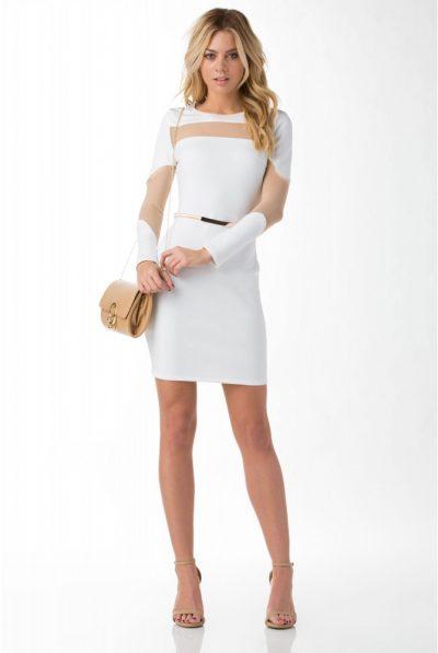 white mesh dress 2